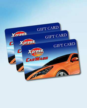 When you buy and use XPRESS CAR WASH GIFT CARD, every 5th car wash is FREE!